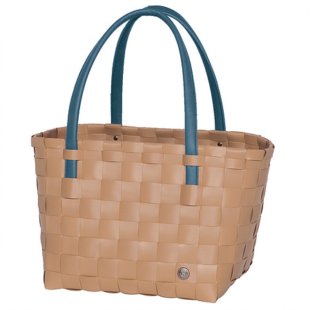 3d9f21775 Handed By Color Block Reusable Shopping Tote Bag Hazelnut Brown – Unek Goods